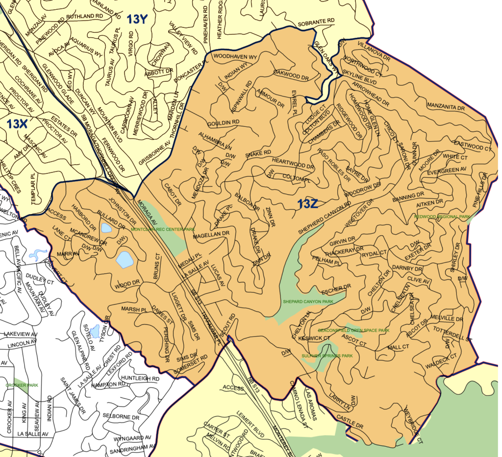 Beat 13Z map and boundaries